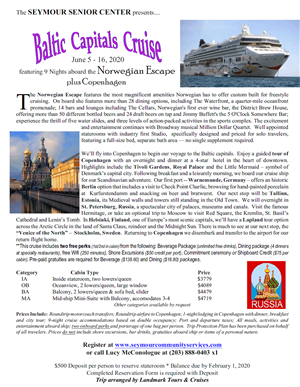 Baltic Capitals Cruise 2020